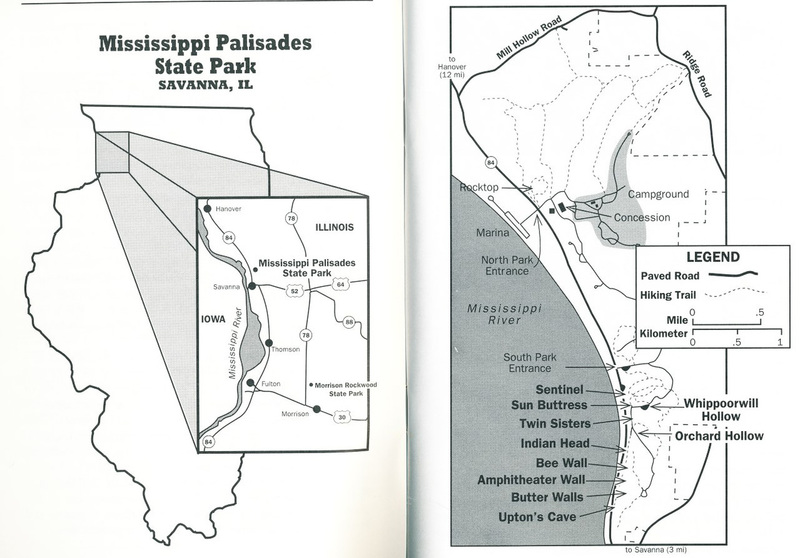 mississippi palisades state park map Climbing In Mississippi Palisades Mississippi Palisades mississippi palisades state park map