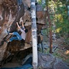 Tony Chang sets up for the crux on Black Panther - Photo: Andrew Rothner