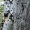 """Lindsey on the first """"8 Months Pregnant"""" TR ascent of The Last Delusion"""