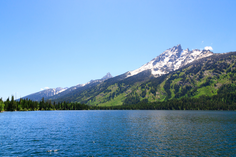 Teewinot from the middle of Jenny lake. By Jordon Huisman