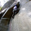 A nice foot ledge makes the undercling fun and easy.