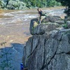 Water level was high so we did a top-belay