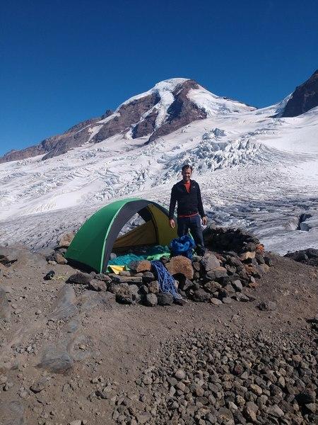 Base Camp on the glacier past Hogsback