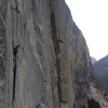 working up towards el cap tower after lowering off of dolt