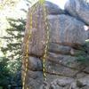 Hungover Wall - Right End, Keller Peak<br> <br> A. Pressure Drop (5.10c)<br> B. Under Pressure (5.12a)