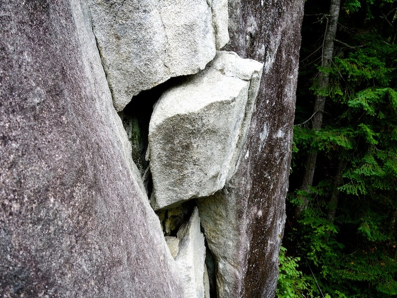 Someday this block on Magic Fern will be there no longer....but for the moment climbers continue to use it as a great juggy handhold and footledge....