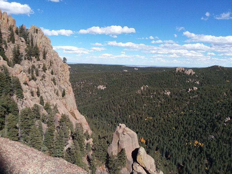 Looking out at Purgatory Rock (bottom center) from the top of The Underworld.