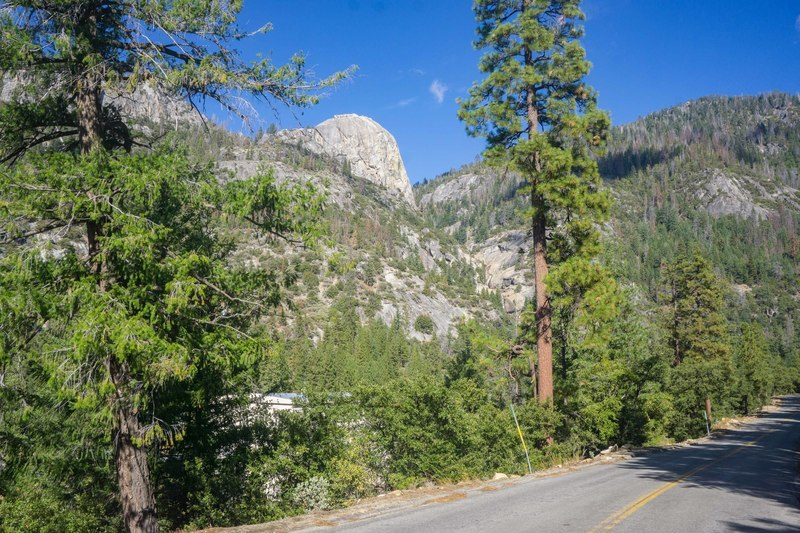 the south face from huntington lake road