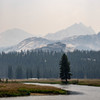 Tuolumne Meadows covered in smoke.