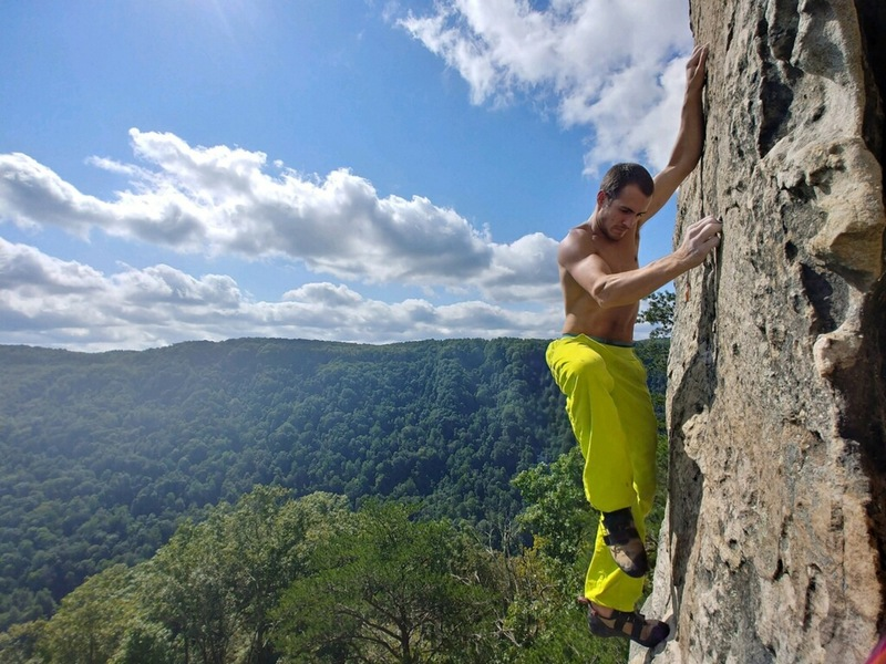 Soloing the terrific route. Photo credit: Aaron McCartney