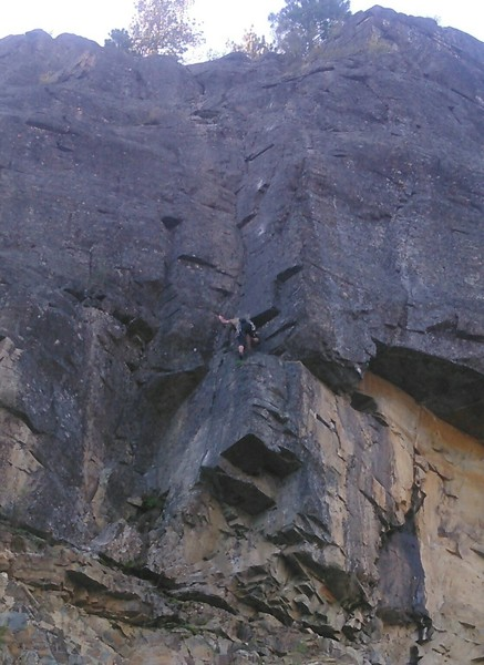 Stefan Beattie on 2nd ascent of Stem Research, April 2016