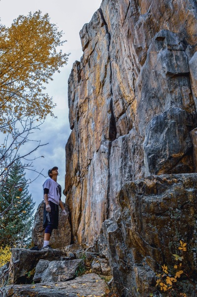 Overly edited to provide a clear picture of the climb.<br> <br> Climber: Ryan Bonilla.