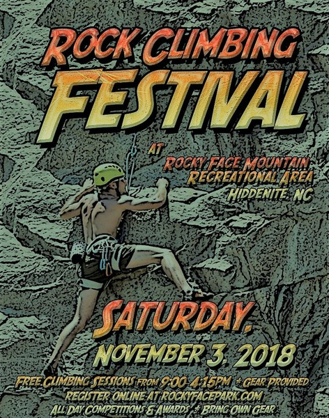 Having another climbing festival at the park on November 3rd, 2018. Everyone is welcome.