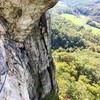 Taken from the hanging belay after the second pitch of Pleasant Overhangs.