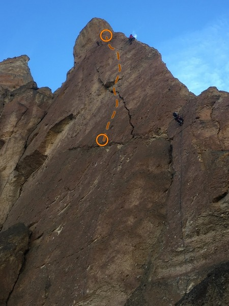 Higher Mesiah is highlighted with climbers on Risky Pass and Hawks Nest