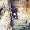 Sara Paradis following P1 on a rainy day.