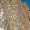 Pointe Adolphe Rey: Police des Glaciers, Topo