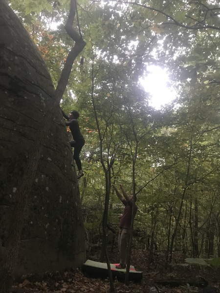 Emma making moves on what became her first V1!