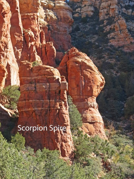 Scorpion Spire, as seen from the west.