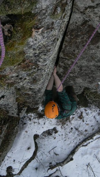 Upper crack on the route