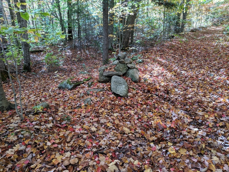 The Approach - Turn left off the Jackrabbit trail at this cairn