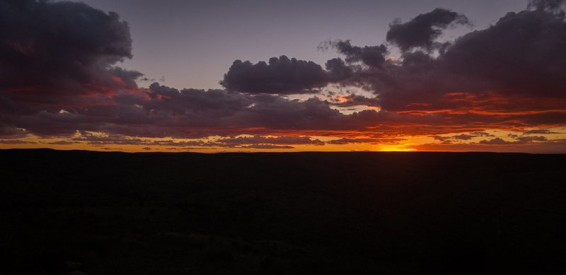 Sunset over Last Chance Canyon. October 2018.