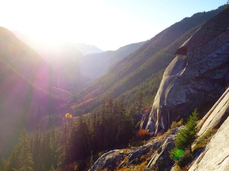 Beautiful fall afternoon high on Mamie Peak.