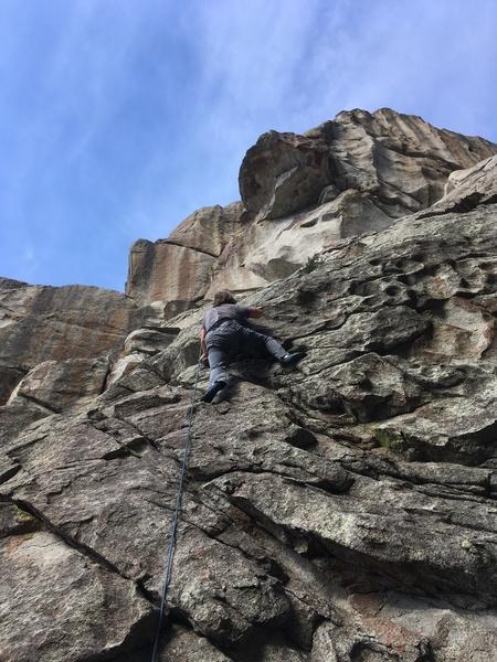 Joshua just above the steep start.