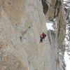 Grand Capucin: Bonatti-Ghigo, Traverse to the Cave