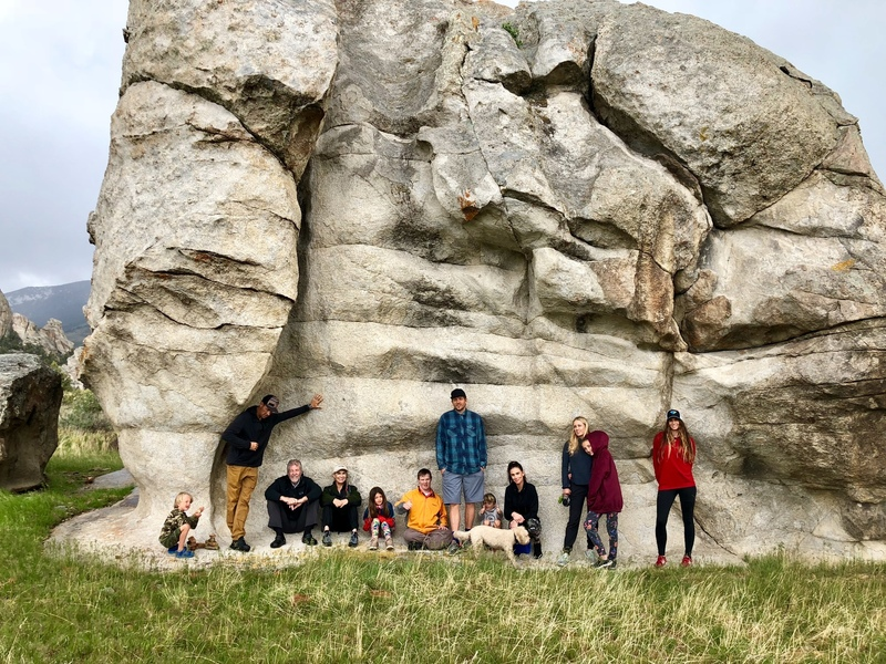 Miller Clan: behind Castle Rock on a rainy spring day