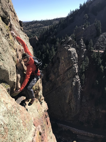 An onsight free solo of Anthill. This route was really heady and scary for the grade - an Eldo must solo if that's your kinda thing.