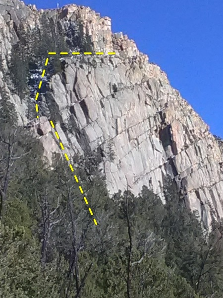 The descent gully.
