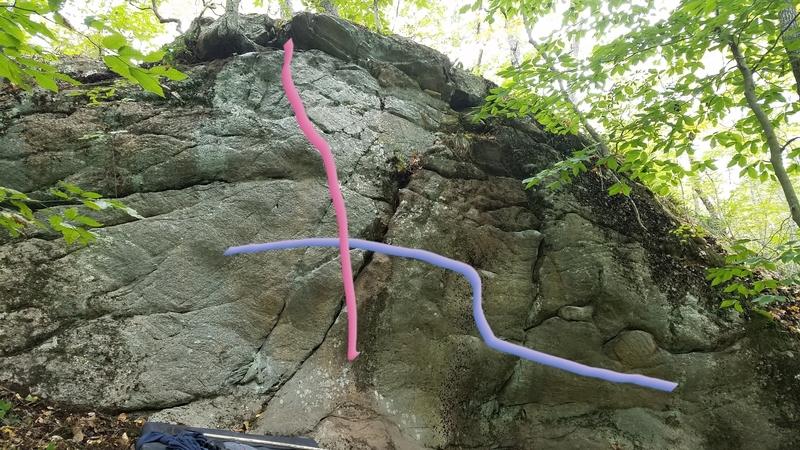 Pink is furr shurr direct, purple is drawn just below furr shurr traverse