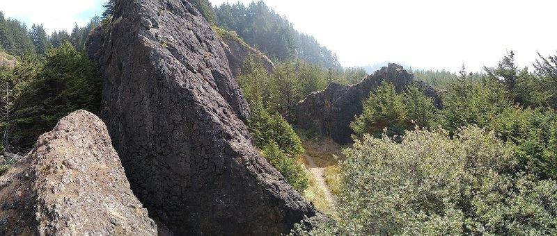 The main crag