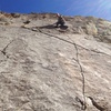 Above the crack and crux.
