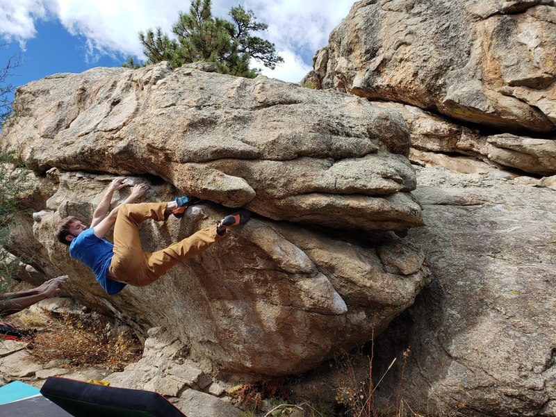 Working on the crux.