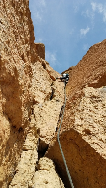 The crack on the second pitch