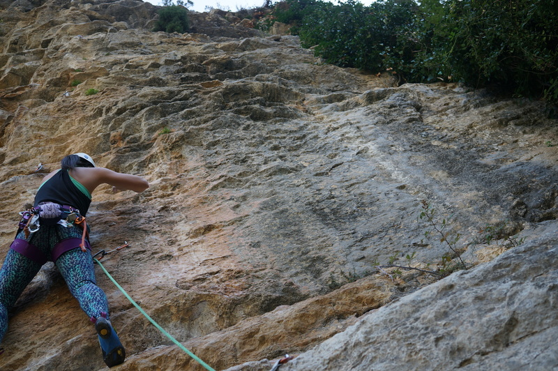 Viv at the start of this climb