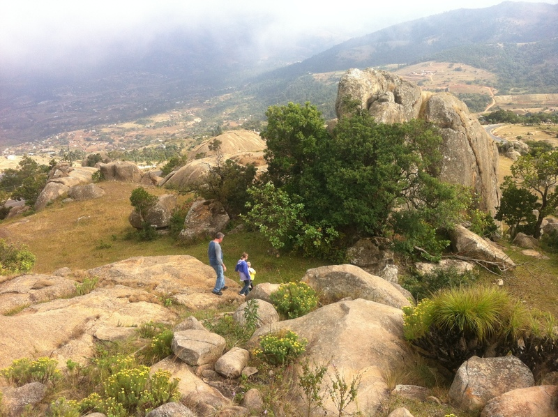 """One of numerous boulder """"gardens"""" atop the ridges of Ezulwini Valley"""
