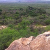 View from massive unclimbed boulder in the middle veld - Manzini Region