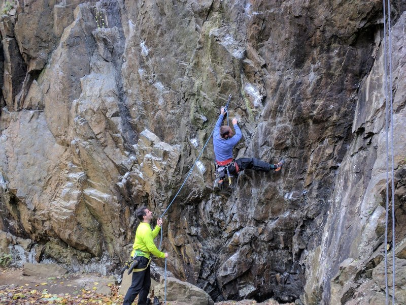 almost through the crux