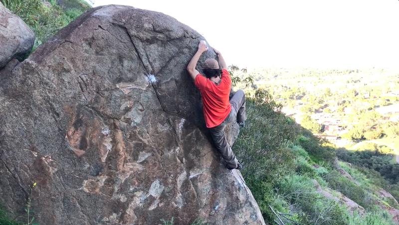 Finishing up the easy arete