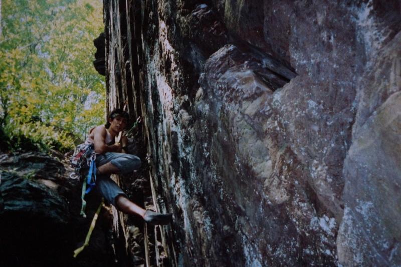 Mark Ronca aiding a section of a climb. Photo credit: Mark Ronca