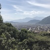 View of Kathmandu from the top of the second pitch. Swayambhunath (monkey temple) on the bump to the left.