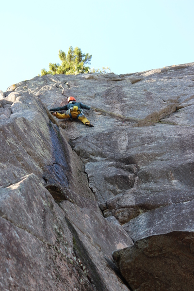 Just below the crux. Photo credit to Ian Lingley.