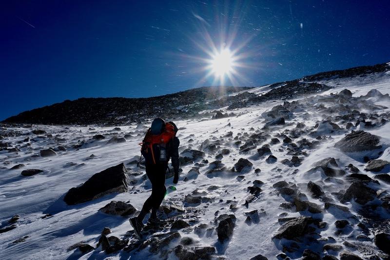 Pass from Gannett Peak to Titcomb Basin