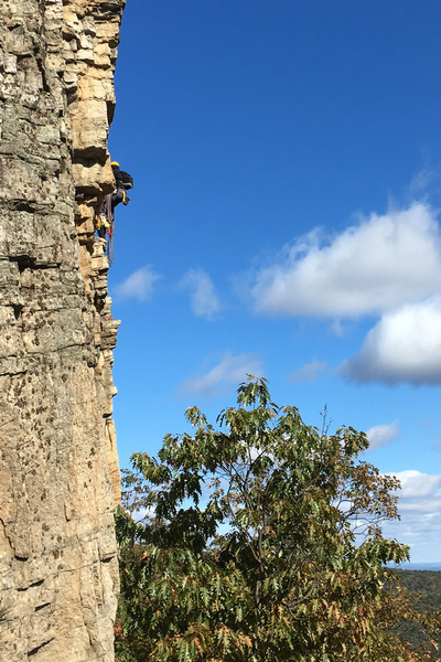 At the hanging belay of [[105799697]], as taken from somewhere on [[106511520]]