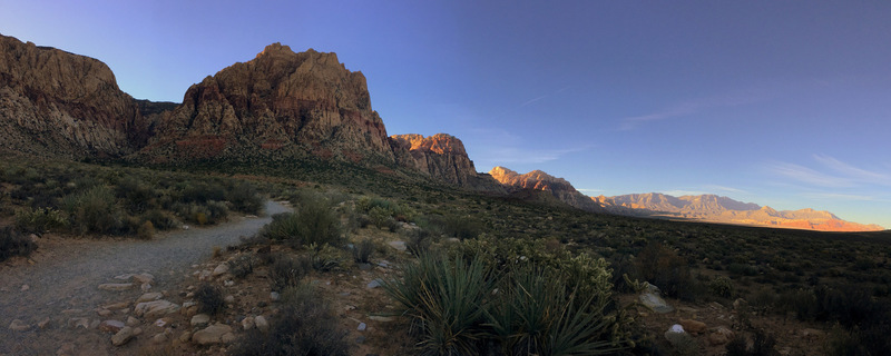 Panoramic from First Creek trailhead.