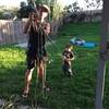 Practicing rescue drills with little 3 YO Bodhi!!