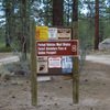 Signage for Holcomb Valley Pinnacles